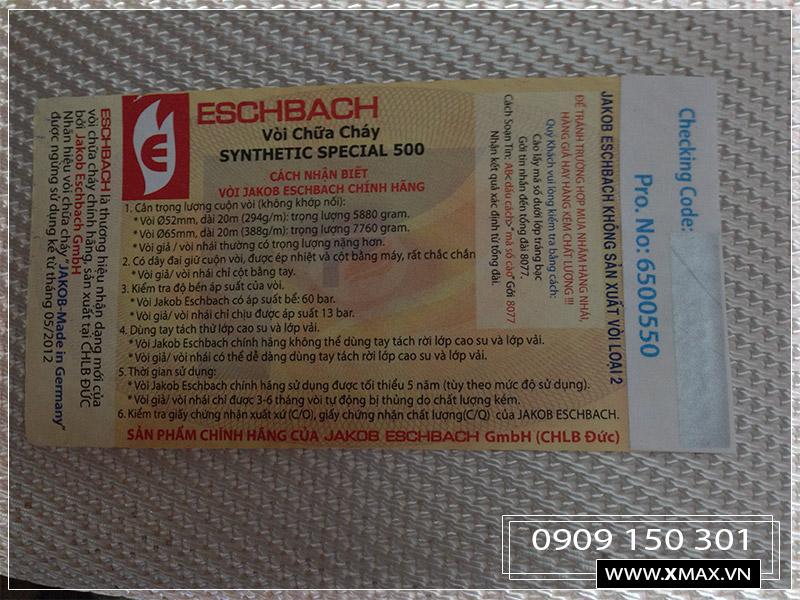 cuộn vòi pcccy D50 eschbach