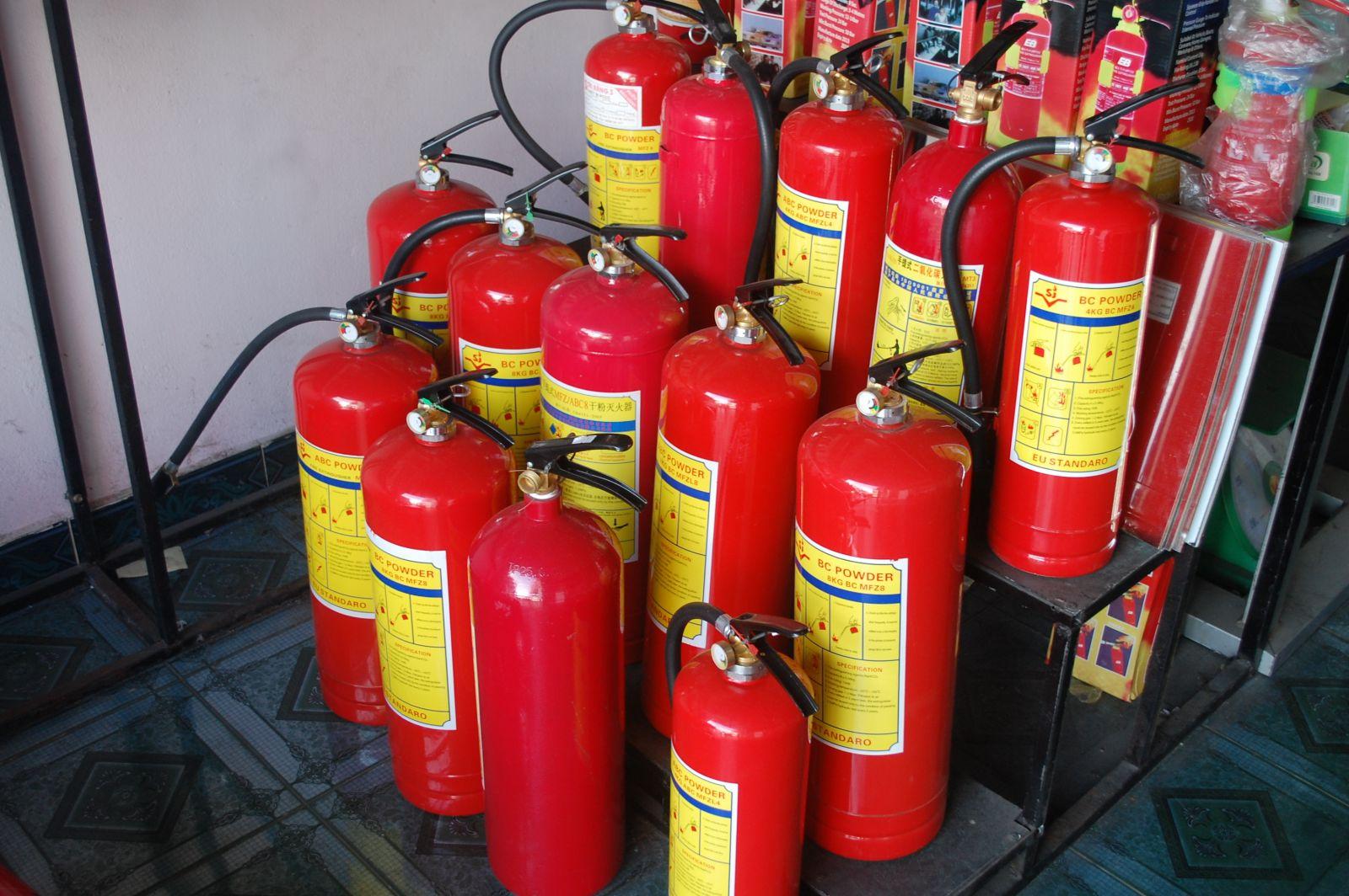 Các lưu ý khi mua bình chữa cháy
