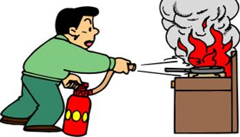 lưu ý khi dùng bình bột chữa cháy