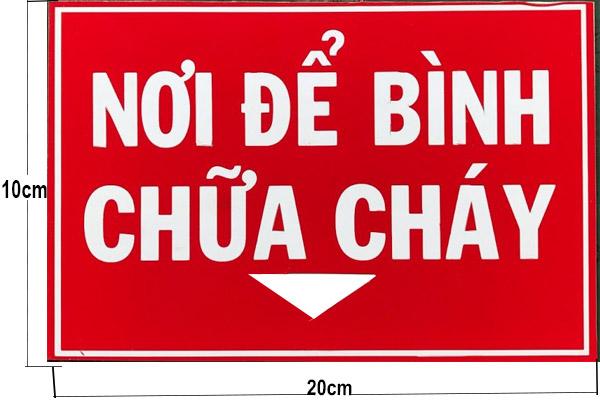 Bảng báo giá bán các loại bảng biển báo phòng cháy chữa cháy
