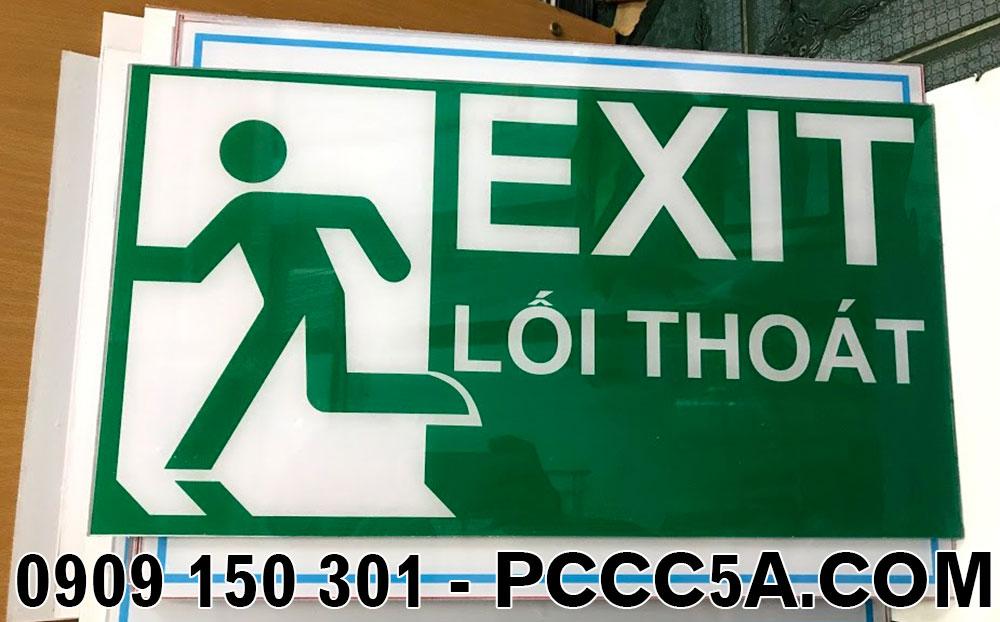 Làm bảng exit chỉ dẫn lối thoát hiểm bằng mica theo yêu cầu