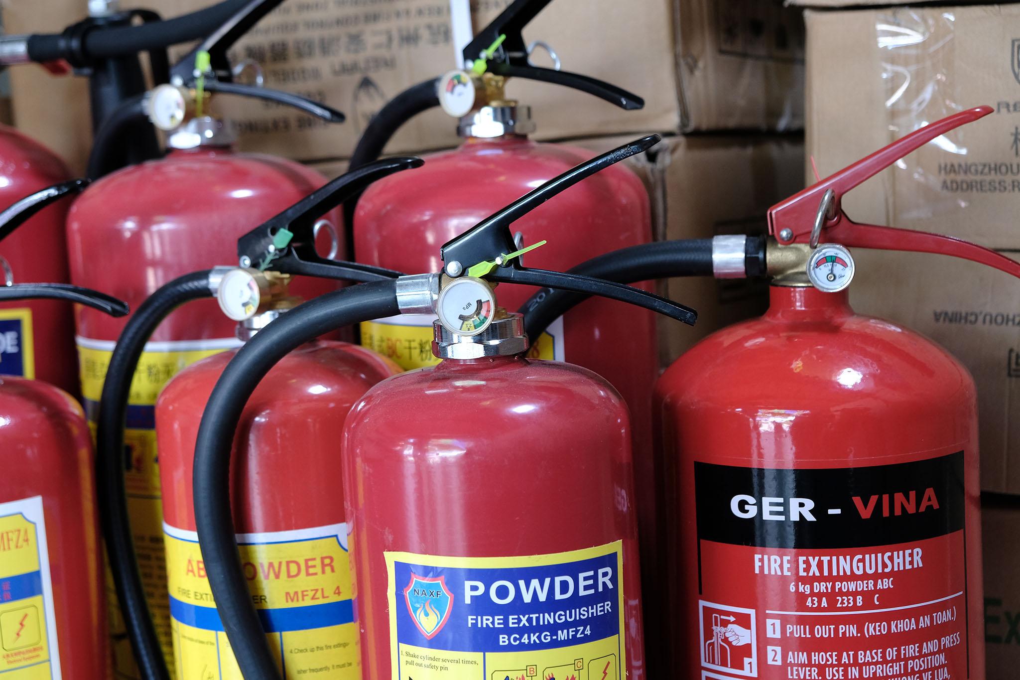 Cơ sở thiết bị bình chữa cháy tại Bạc Liêu