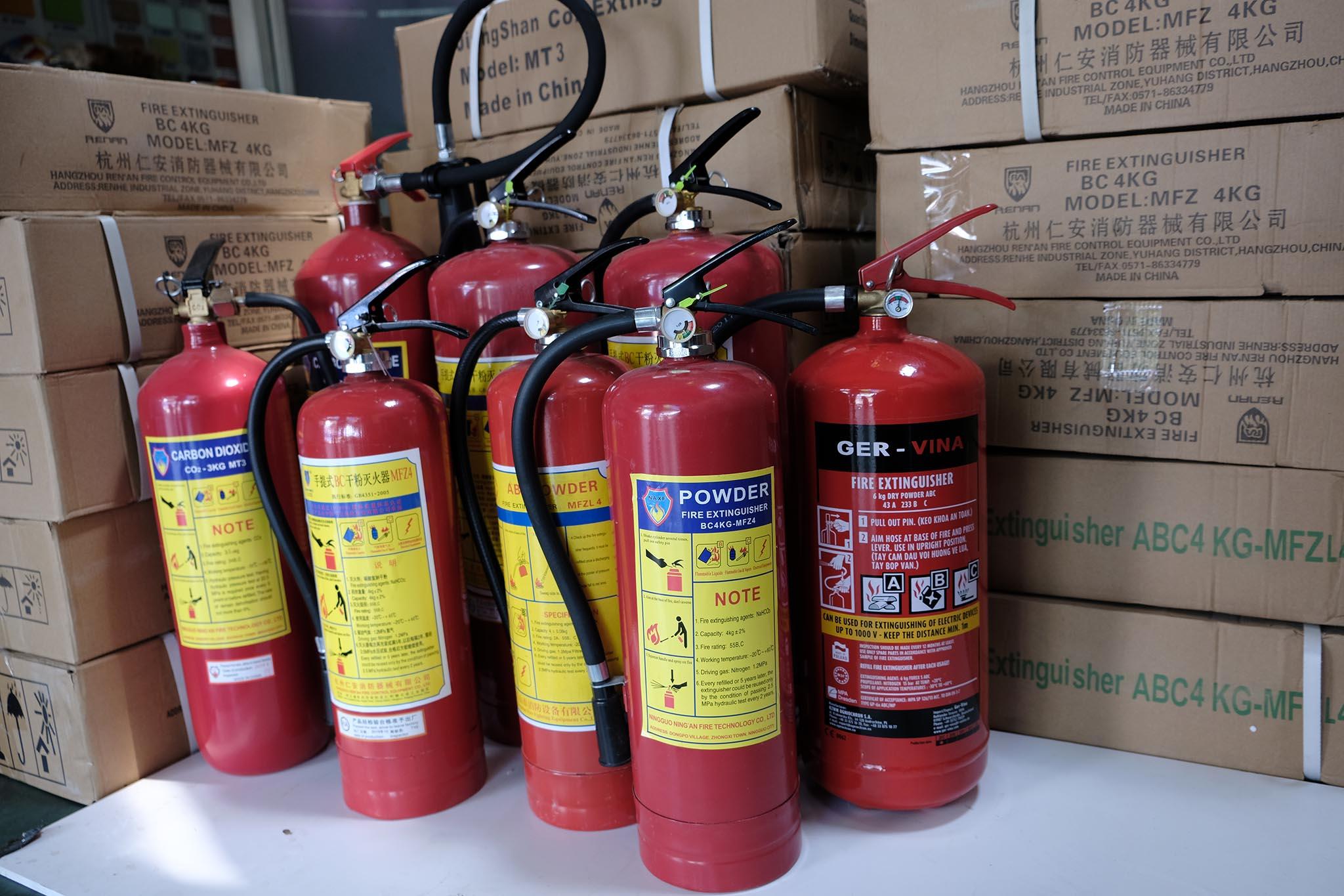 Bảng giá bình chữa cháy ở Bến Tre đạt chuẩn pccc