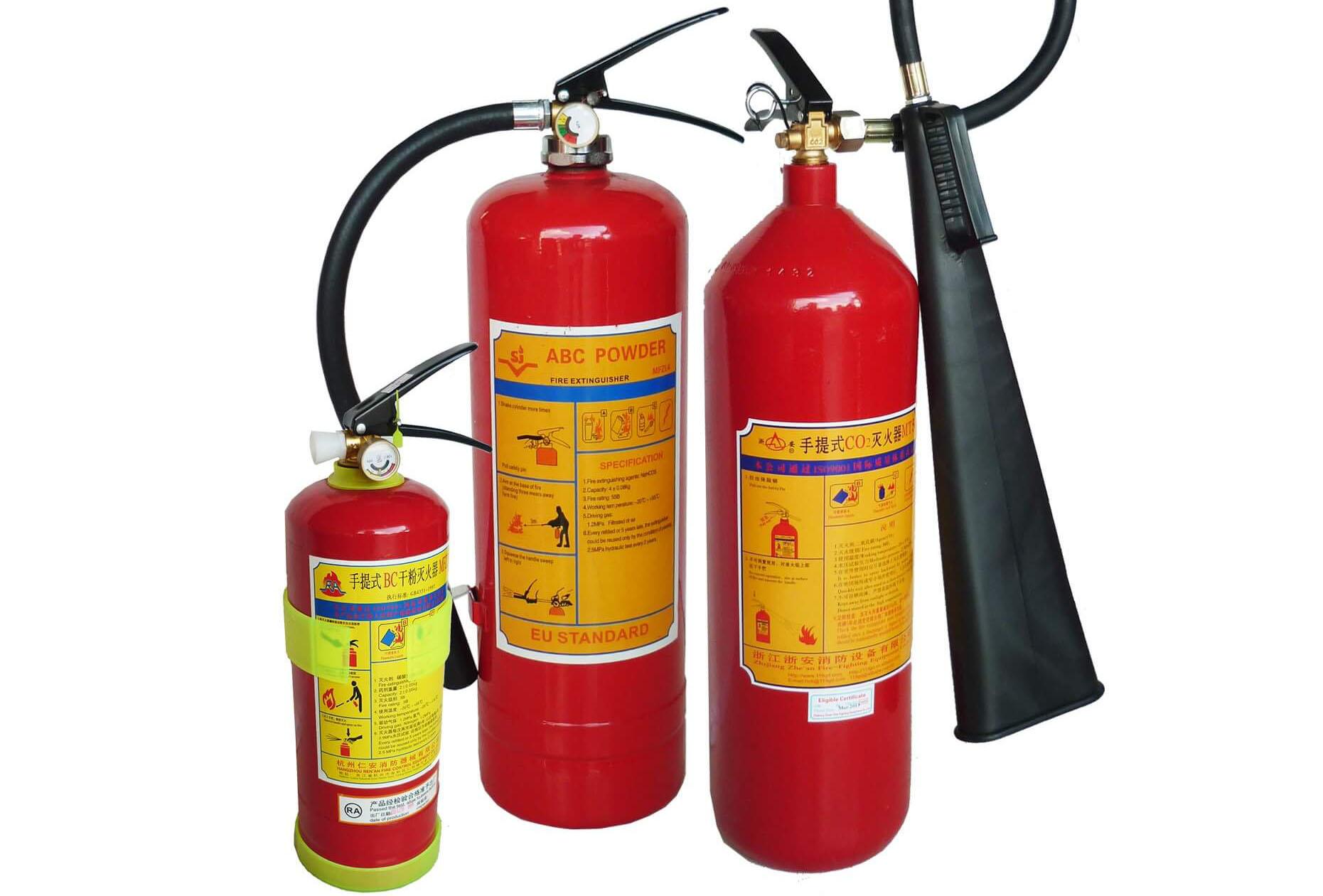 3 mẫu bình chữa cháy chính hãng có kiểm định PCCC