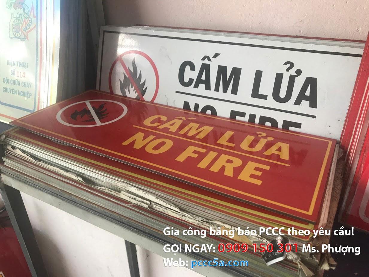 bảng cấm lửa cấm hút thuốc mica