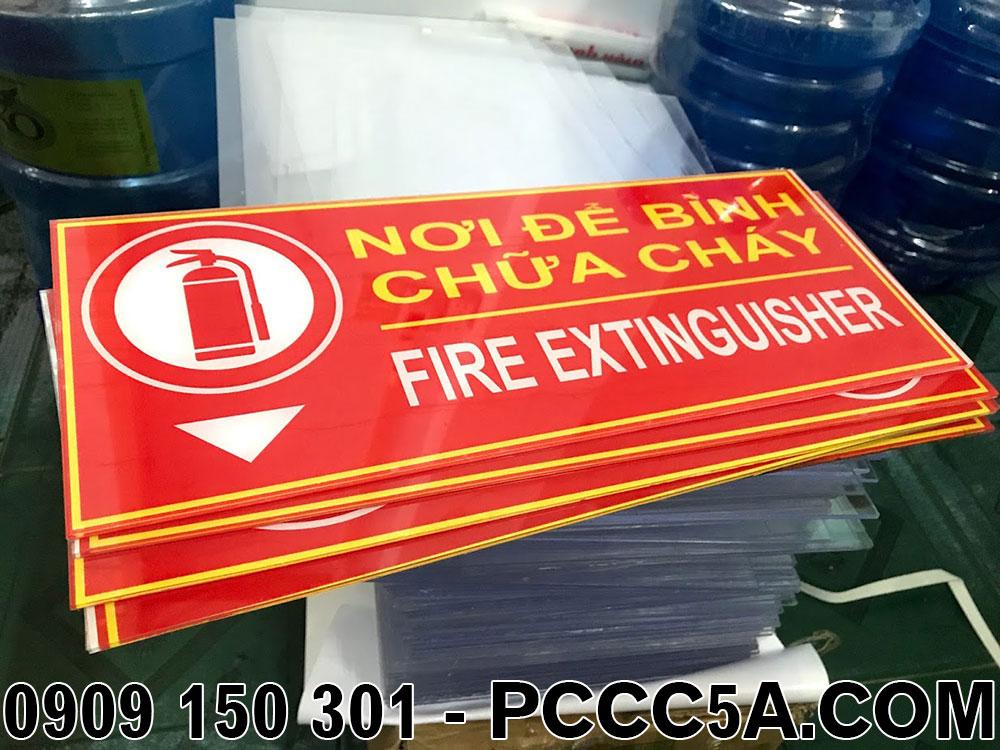 bảng nơi đặt bình chữa cháy