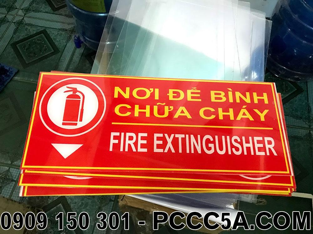 bảng vị trí để bình chữa cháy