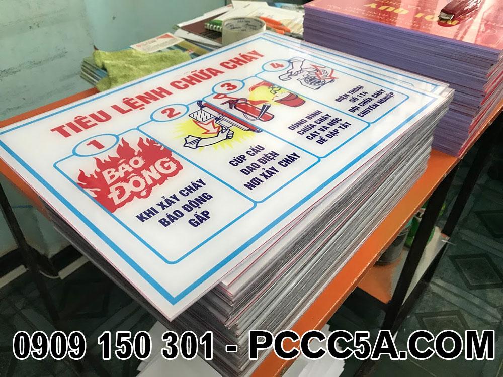 bảng tiêu lệnh pccc mica