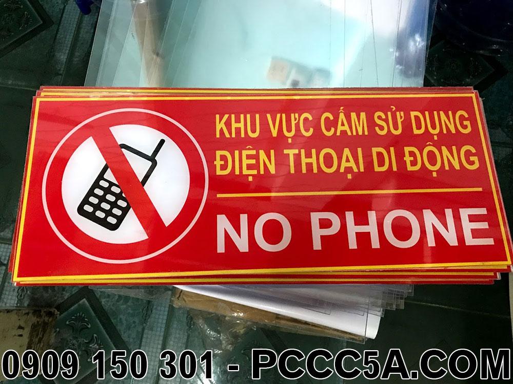 bảng khu vực không sử dụng điện thoại mica