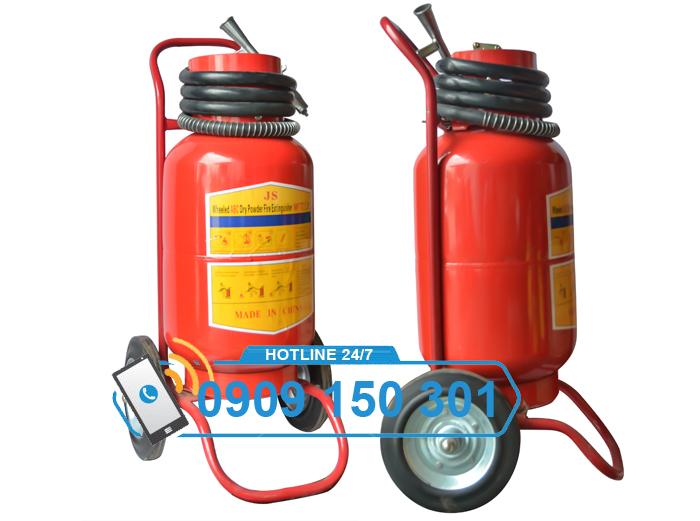 Bình chữa cháy bột BC MFTZ35 35kg CÓ XE ĐẨY ảnh 1