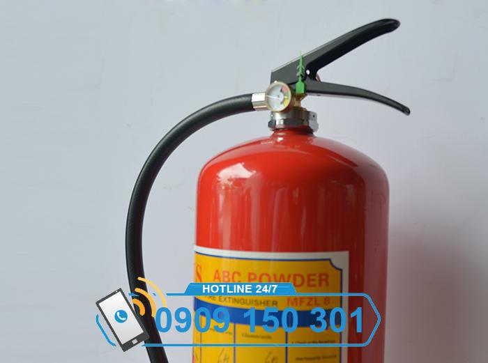 bình chữa cháy bột ABC MFZL8 8kg loại xách tay ảnh 2