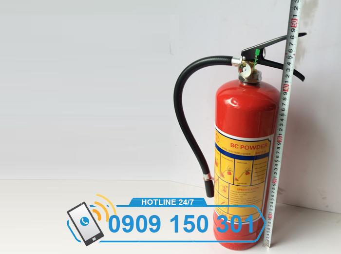 Bình chữa cháy bột BC MFZ4 cao bao nhiêu?