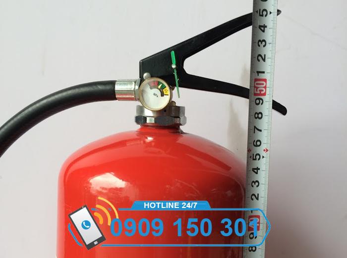 Chiều cao bình chữa cháy bột BC MFZ8 8kg