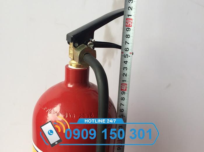 Bình chữa cháy khí CO2 MT3 cao bao nhiêu?