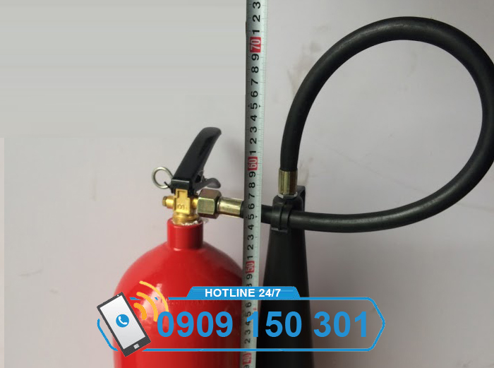 Bình chữa cháy khí CO2 MT5 cao bao nhiêu?