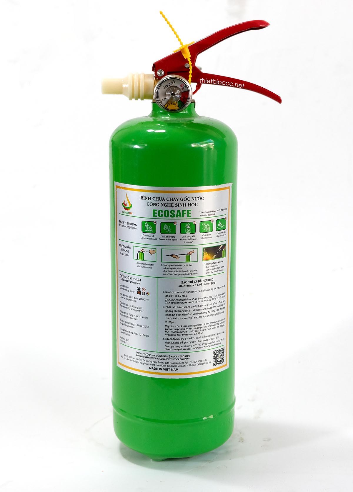 Bình chữa cháy gốc nước 2L ES2 Ecosafe Việt Nam