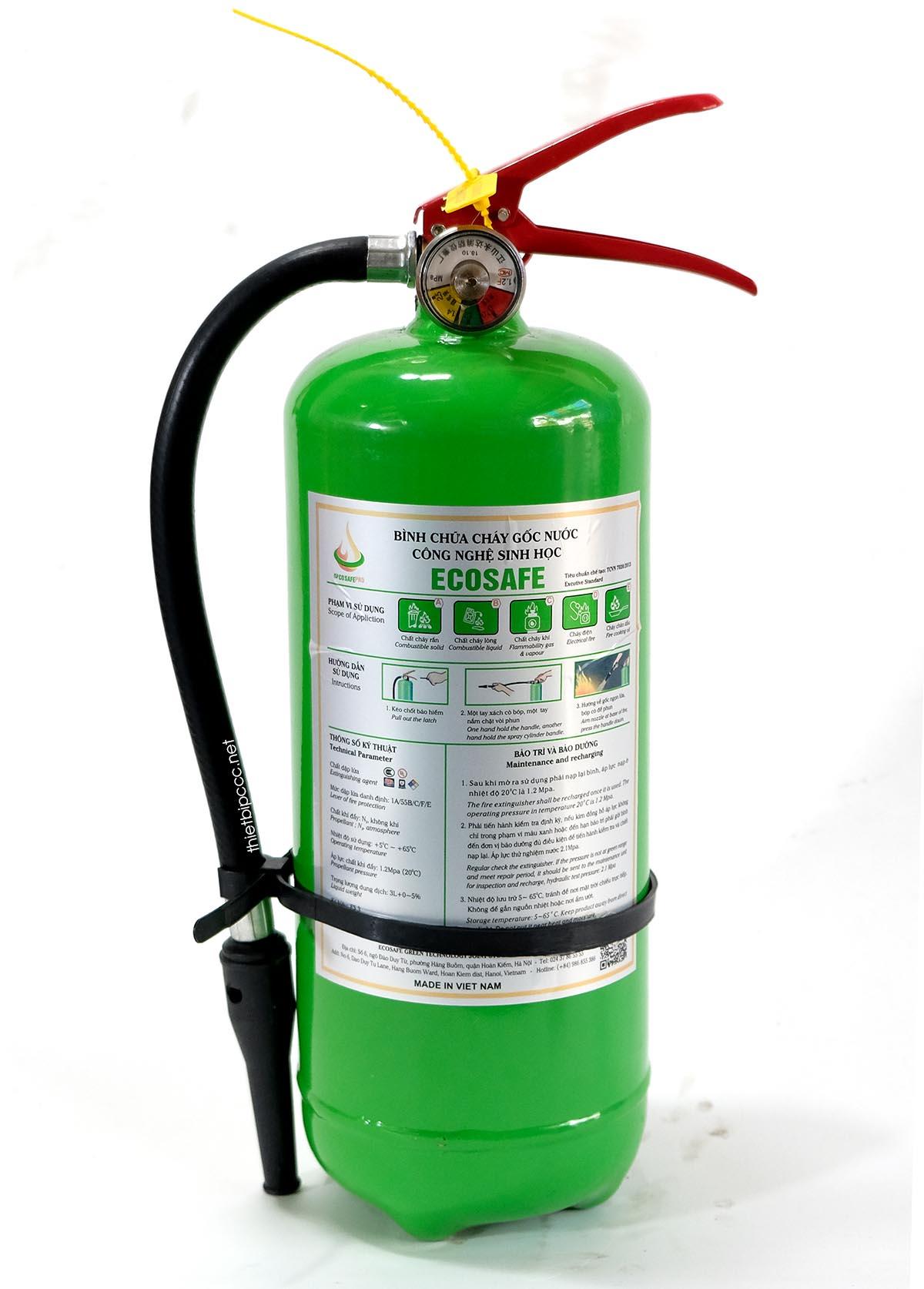 Bình chữa cháy gốc nước 3L ES3 Ecosafe Việt Nam