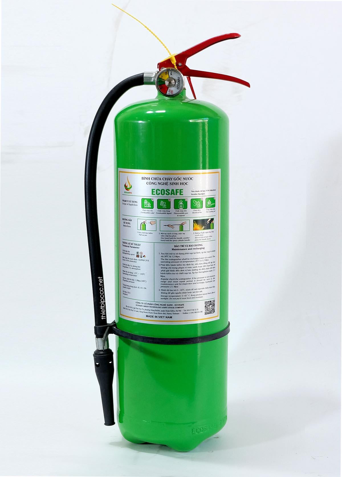Bình chữa cháy gốc nước 6L ES6 Ecosafe Việt Nam